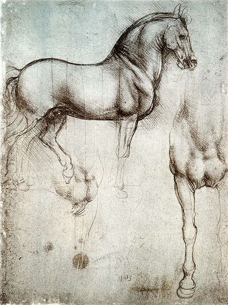 Da Vinci's sketch of Gran Cavallo