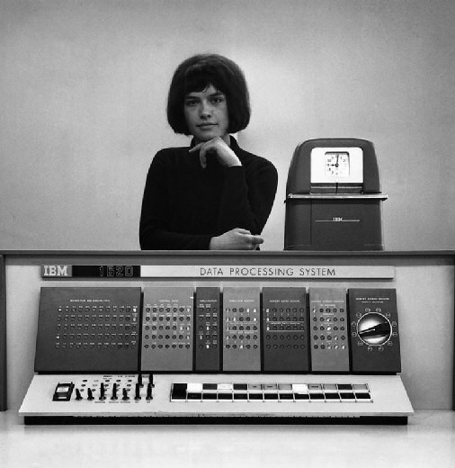Girl with IBM 1620