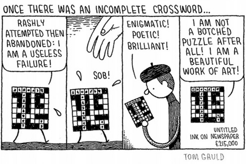 Incomplete Crossword by Tom Gauld