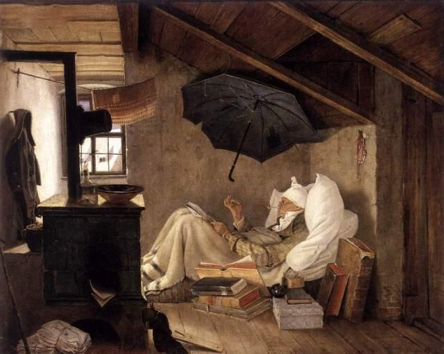 The Poor Poet by Carl Spitzweg (via Bibliokept)