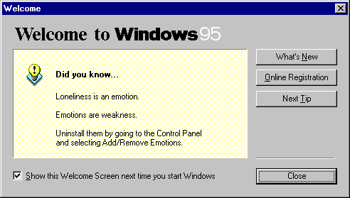 Windows 95 tips