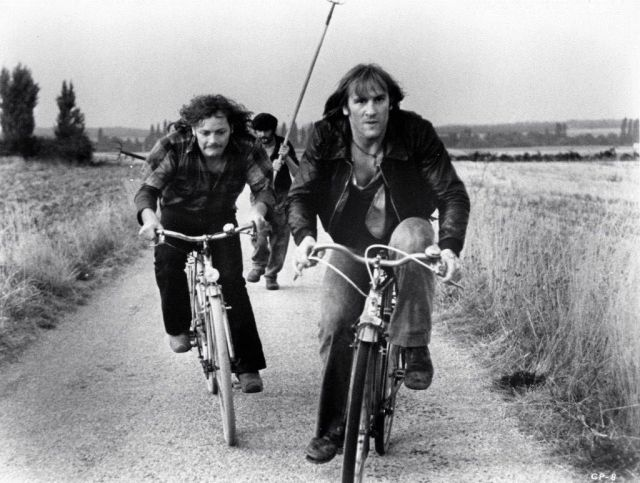 Patrick Dewaere and Gerard Depardieu ride bikes via RidesaBike