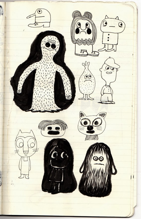 from Delphine Durand's sketchbook