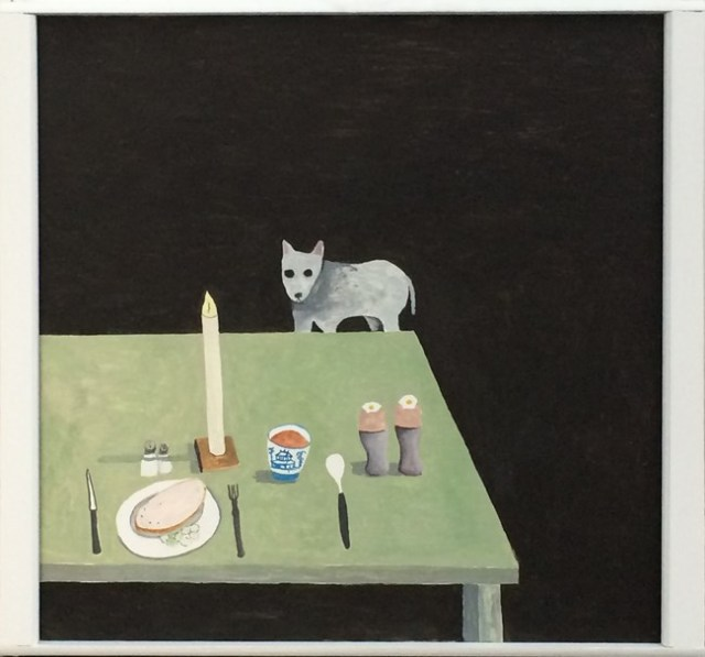 Noel McKenna Food on Table, Dog Begging